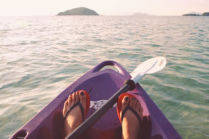 Movember - Get active for men's health - woman kayaking