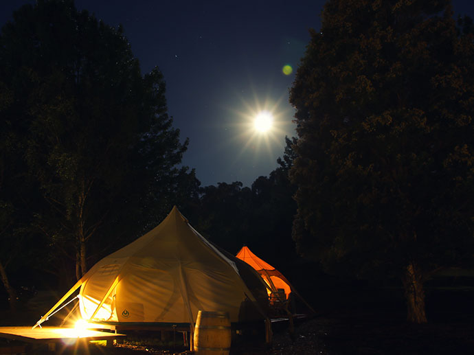 full moon glamping