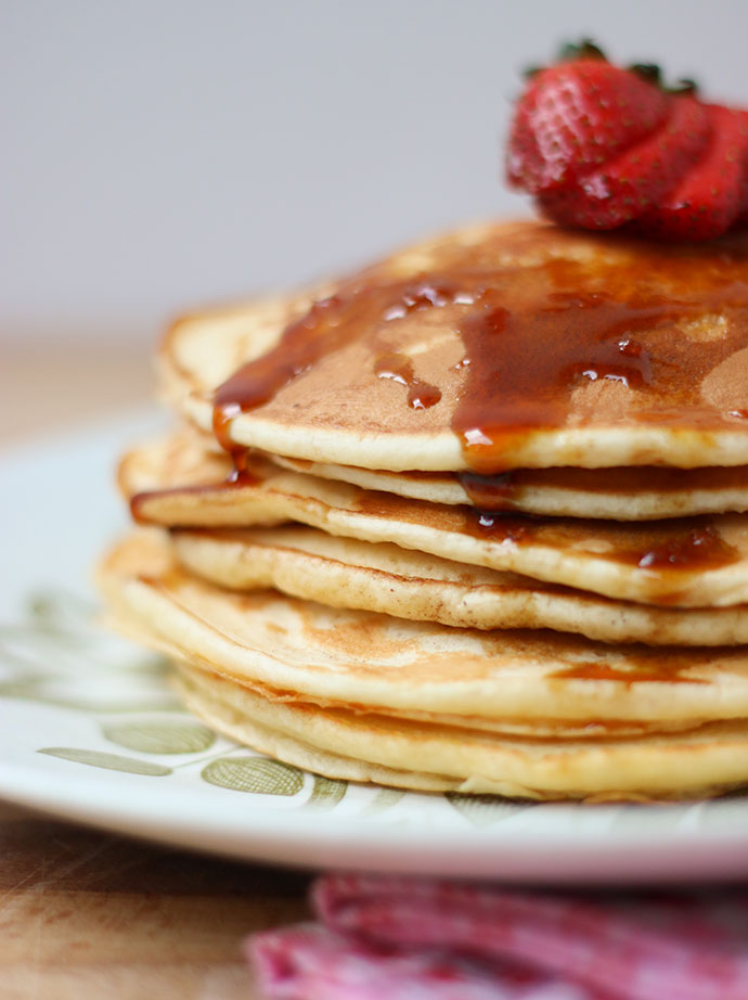 The only pancake recipe you'll ever need - This basic pancake recipe is so easy to remember, you can make it every day - mypoppet.com.au