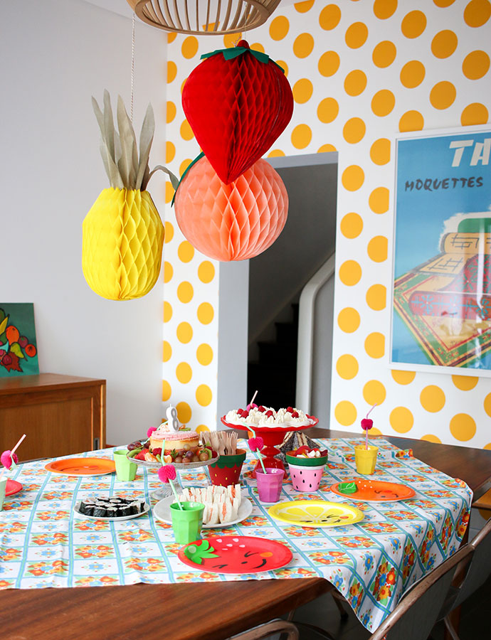 Kids party ideas - Fruit themed tea party