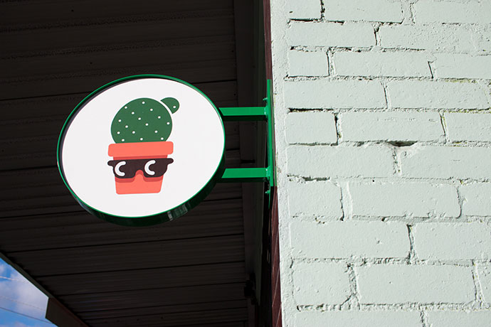 Cool Cactus store sign