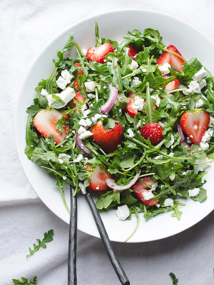 Rocket & Strawberry Salad with Feta
