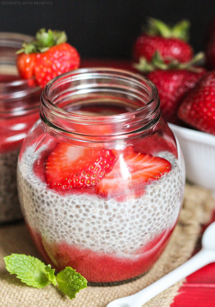 Strawberry Vanilla Chia Seed Pudding