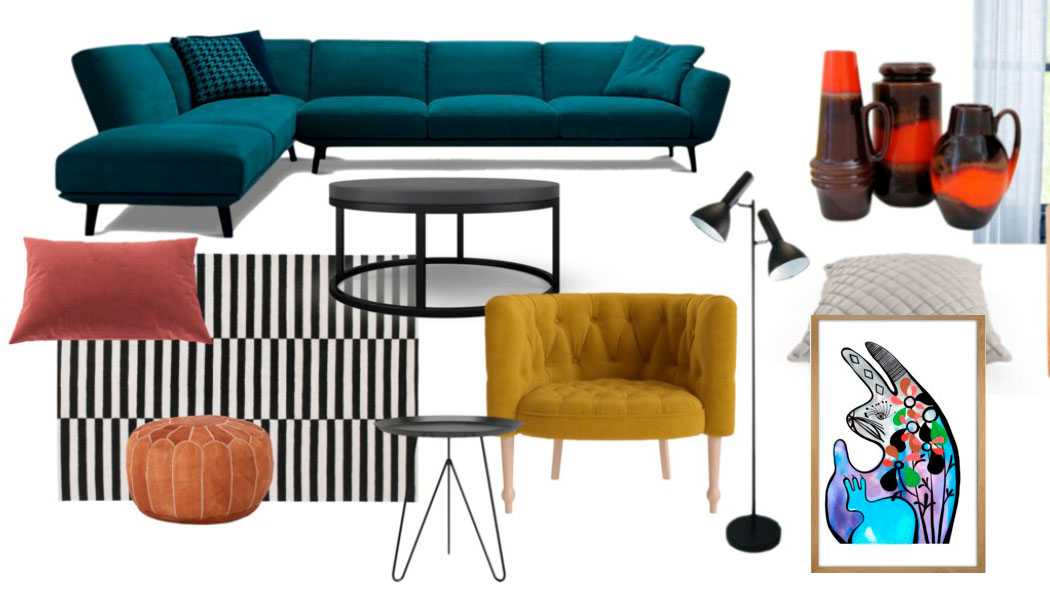 Lounge Room Refresh: Design Mood Board + $200 Brosa Giveaway!