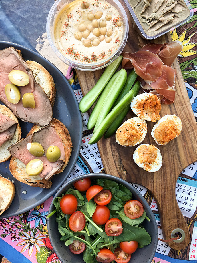 Grazing plate - camping food - mypoppet.com.au