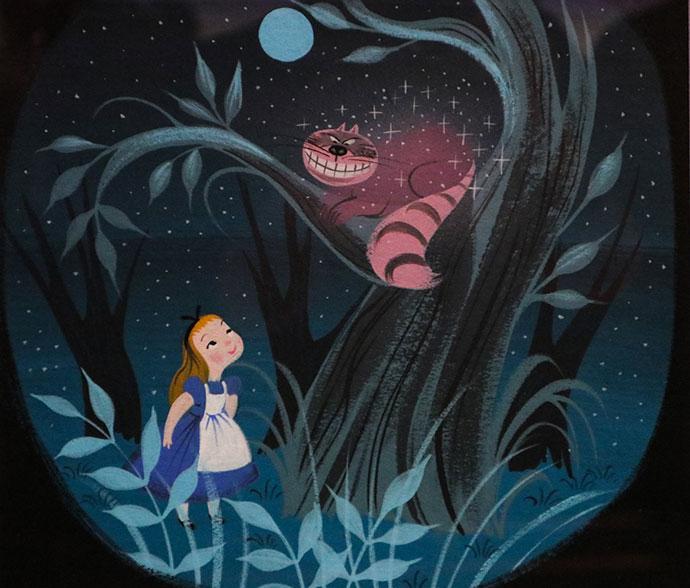 Mary Blair - original concept art -Wonderland - Alice in Wonderland in Film Exhibition - ACMI Melbourne Australia - mypoppet.com.au
