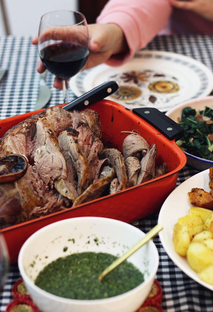 Roast lamb with mint sauce - mypoppet.com.au