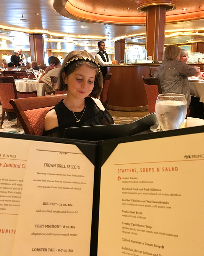 How to not gain weight on a cruise - Eat in the dining room