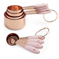 Metric Copper Measuring Cups and Measuring Spoon Set