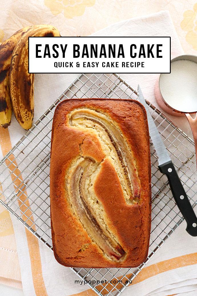 easy banana cake recipe - mypoppet.com.au