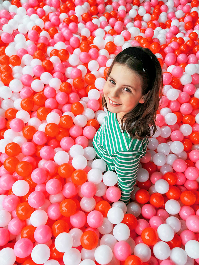 Giant christmas ball pit at christmasland Melbrourne