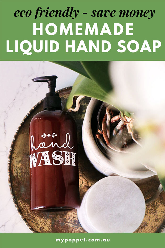 Homemade Liquid Hand soap recipe - mypoppet.com.au