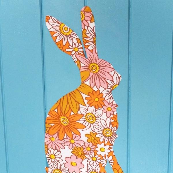 bunny fabric decal