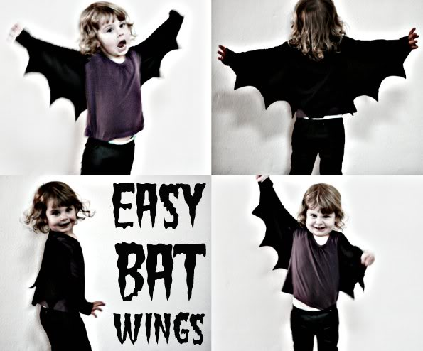 How to make bat wings for Halloween costume - mypoppet.com.au