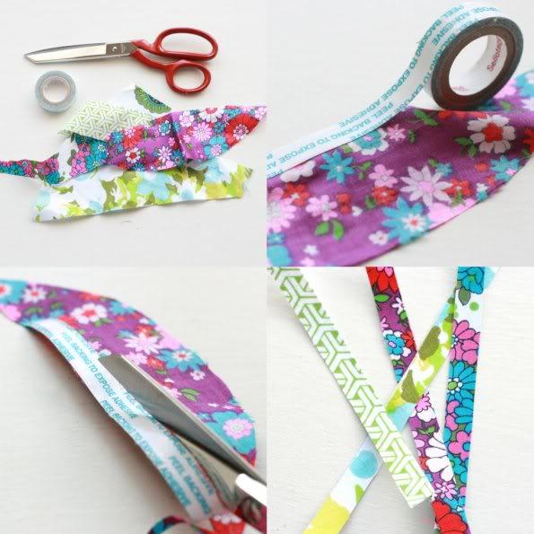 How to made fabric tape - mypoppet.com.au