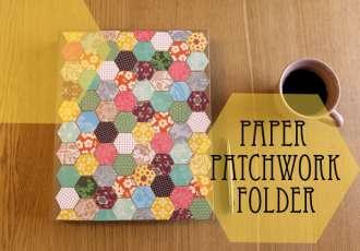 Hexagon patchwork folder