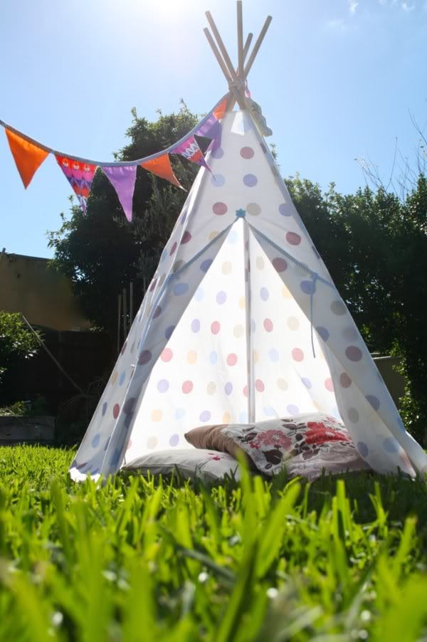 How To DIY Tee Pee Tent - part 2 & How To: DIY Tee Pee Tent - part 1 | My Poppet Makes