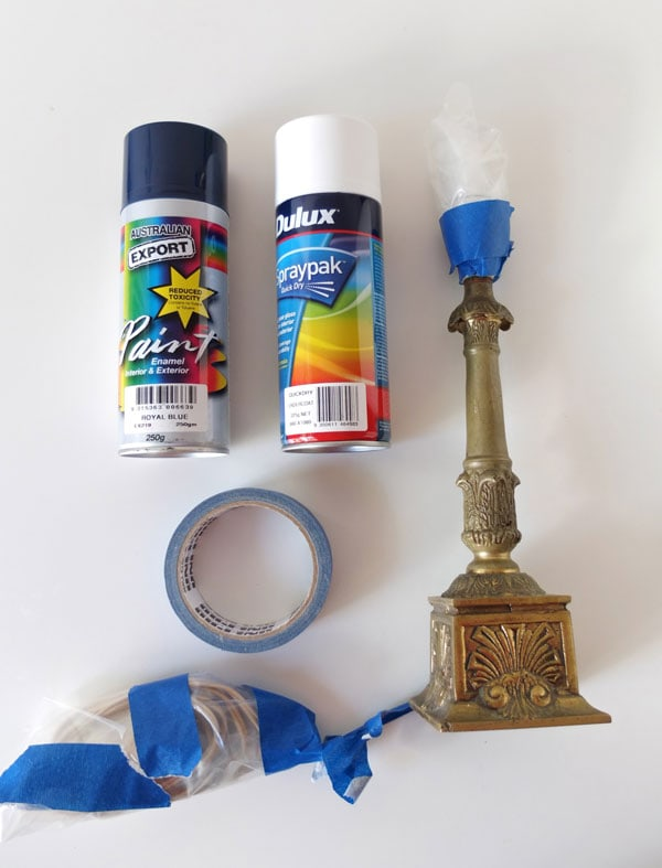 How To: Easy Lamp Makeover & Spray Painting Tips   My Poppet