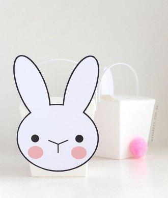 Make a Bunny Takeout box easter basket - mypoppet.com.au