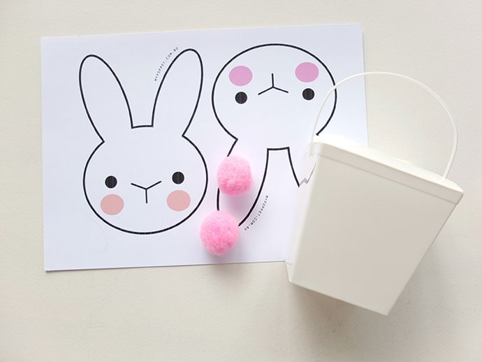picture about Printable Easter Craft identify Easter Craft - Bunny Takeout Box with Printable My Poppet