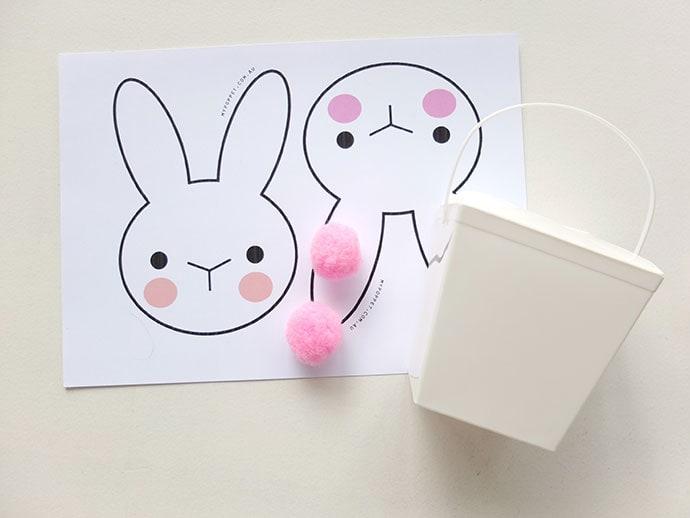 image regarding Printable Easter Craft named Easter Craft - Bunny Takeout Box with Printable My Poppet