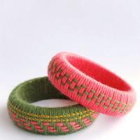 Fun Accessory DIY: Woven Yarn Bangles