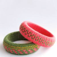 Fun Accessory DIY: Woven Yarn Bangles
