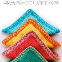 Tunisian Crochet Washcloths