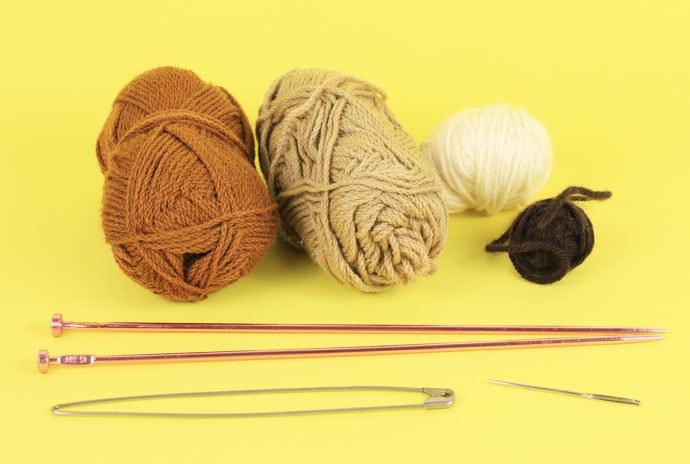 knitted hot cross bun supplies
