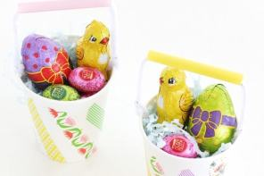 Easter Craft: Paper Cup Easter Baskets