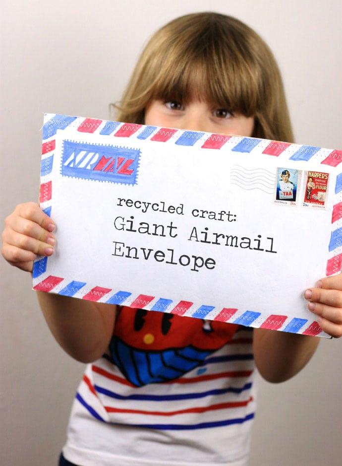 Make a Giant Airmail Envelope mypoppet.com.au