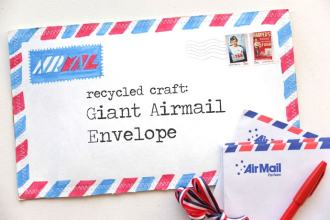 make a reycled airmail envelope