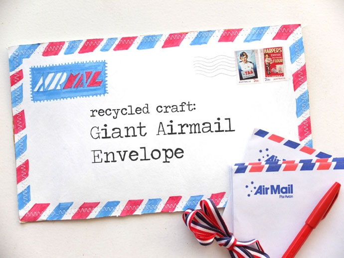 make a recycled airmail envelope