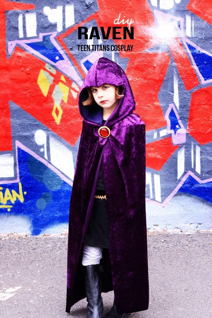Diy Raven Teen Titans Cosplay My Poppet Makes