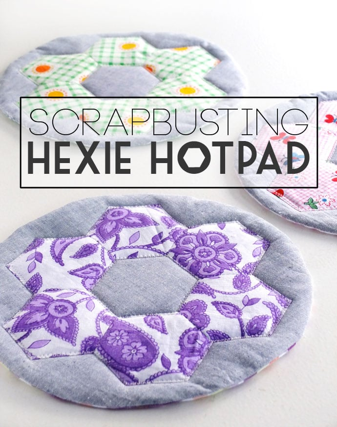 Scrapbusting project: Hexie Hotpad
