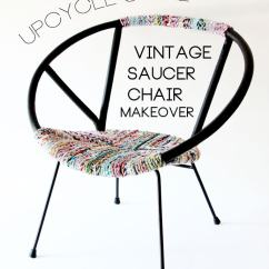 Saucer Chair Replacement Cover Dining Wingback Chairs Upcycle Style Vintage Makeover My Poppet Makes
