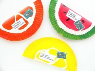 Make Fruity Envelopes from paper plates