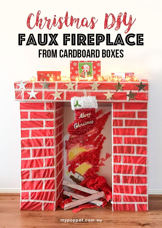 How To Make A Fake Fireplace Mantel Out Of Cardboard