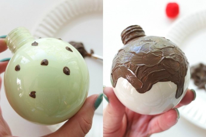 Painting Christmas Baubles