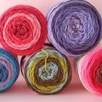 Let's Try: Self Striping Yarn Cakes + 2 BONUS Crochet Patterns