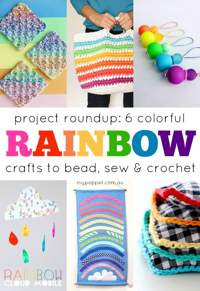 6 Colourful Rainbow Crafts to Bead, Sew & Crochet | My