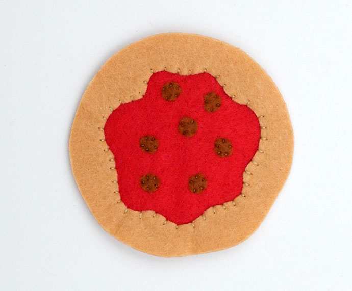 DIY Mini Felt Pizza - mypoppet.com.au