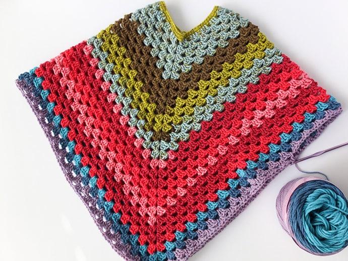 Free Crochet poncho pattern - mypoppet.com.au