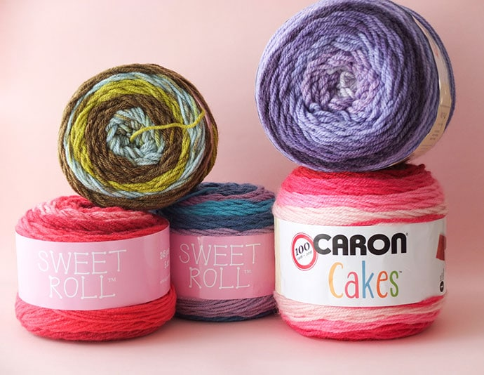 Let's Try: Self Striping Yarn Cakes + 2 BONUS Crochet