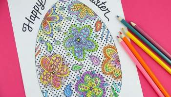 Printable Easter Colouring Page