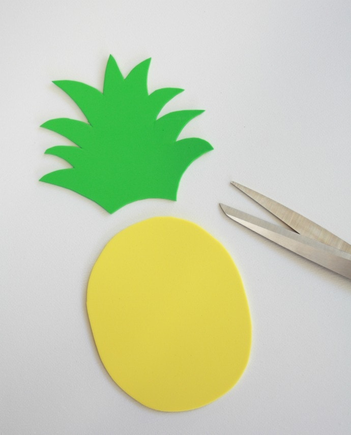 Cut out your foam Pineapple
