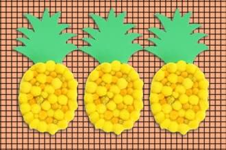 Kids Craft - Make a Pom Pom Pineapple mypoppet.com.au