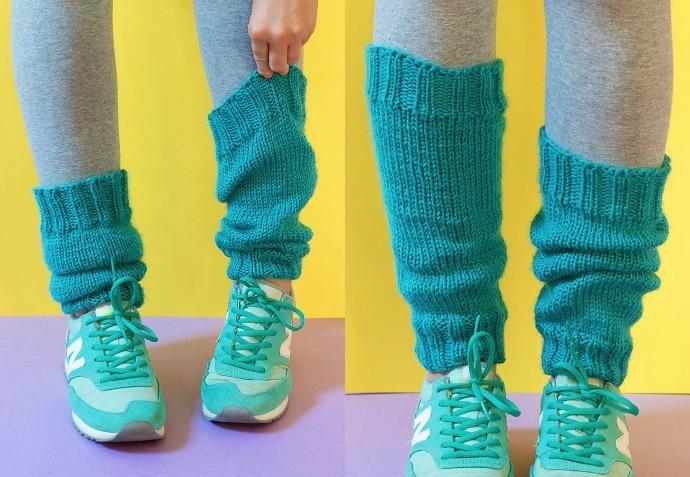 Retro Knitting Pattern: Classic Legwarmers