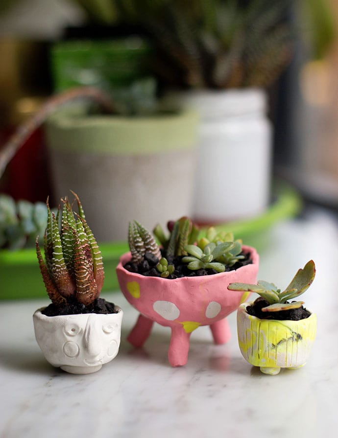 Polymer Clay Mini Planters  My Poppet Makes