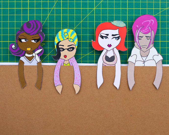 Papercraft: Vintage Paper Doll Bookmarks